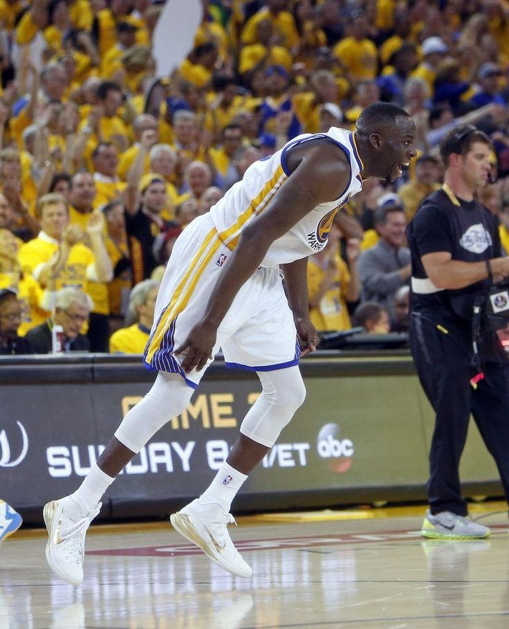 Golden State Warriors' Draymond Green celebrates in overtime of 108-100 win over Cleveland Cavaliers in Game 1 of the 2015 NBA Finals at Oracle Arena in Oakland, Calif., on Thursday, June 4, 2015. Photo: Scott Strazzante, The Chronicle