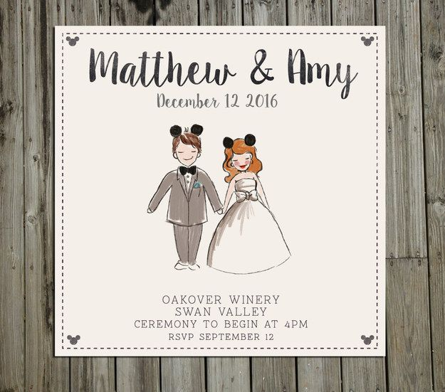 This Disney invitation for your fairytale wedding: | 18 Wedding Invitations That Will Make Your Inner Nerd Insanely Happy