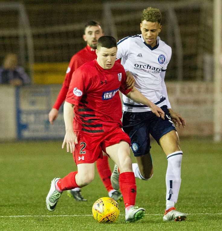 Queen's Park's Conor McVey in action during the SPFL League One game between Forfar Athletic and Queen's Park.