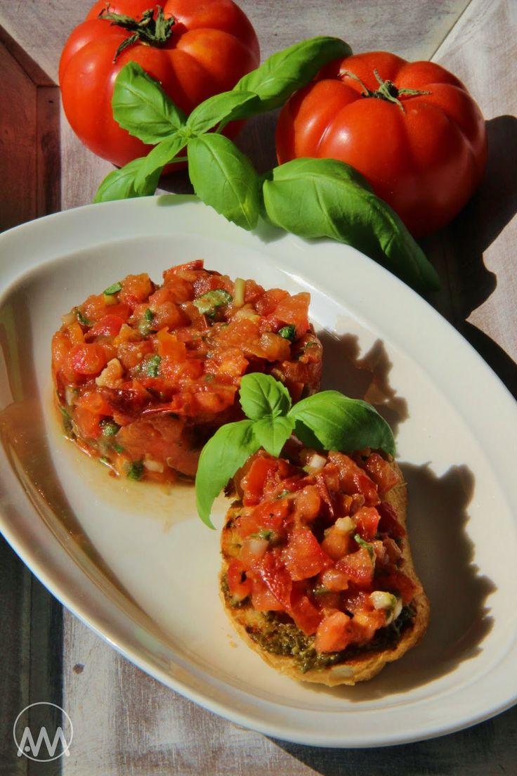 Rajčatový tartar na dva způsoby ( tataráček )