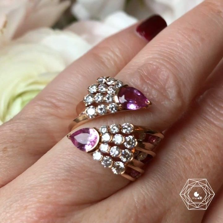 World of Reza. Via Bérengère Treussard | Like a b (@likeab) on Instagram: Such a beautiful ring with diamonds and pink sapphires by @worldofreza  this #new ring - credit #berengeretreussard @likeab  #reza #likeab #worldofreza #highjewelry #hautejoaillerie #highjewellery #finejewelry  #pfw2018 #hautecouture