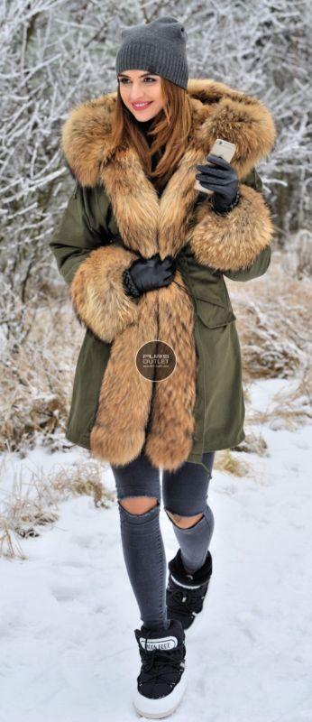 NEW 2016 MILITARY PARKA COAT HOOD FOX FUR CLAS SABLE MINK CHINCHILLA JACKET VEST