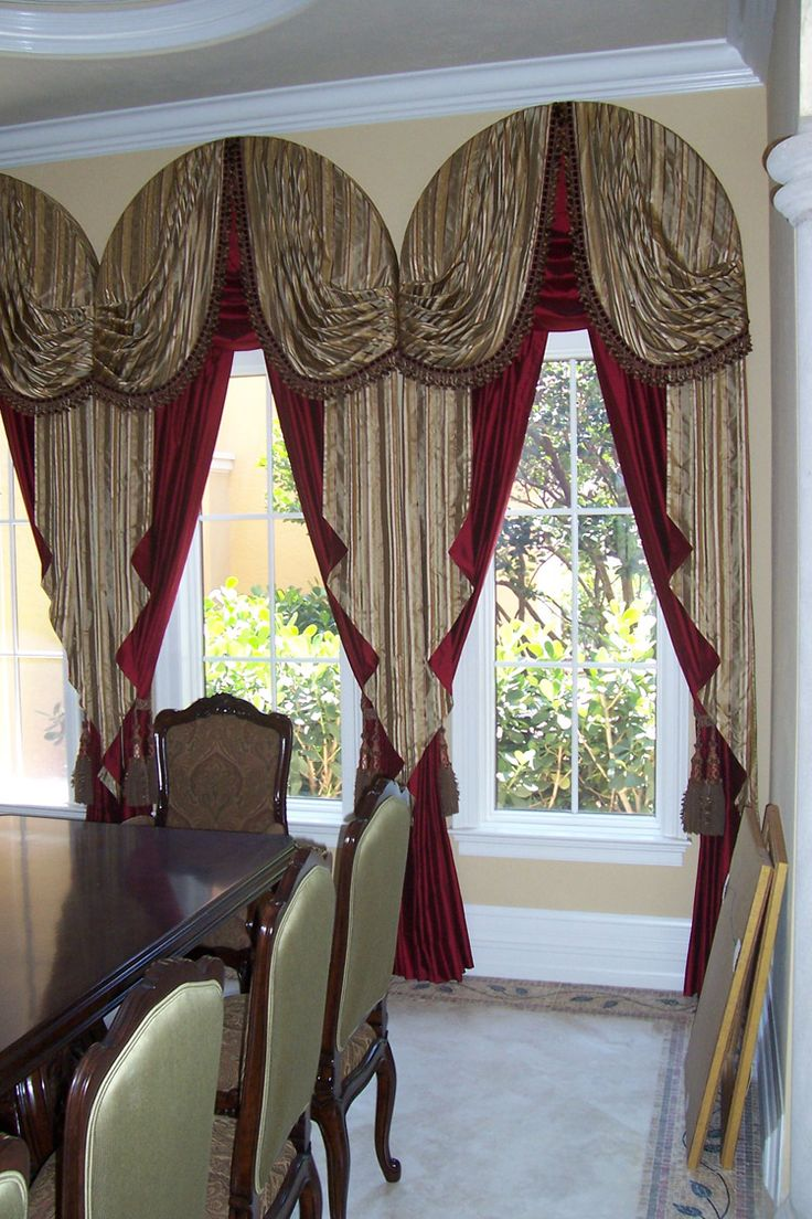 Amazing Curtains And Draperies: Curtains And Draperies Drapes Vs Curtains  Arch Window Curtain Designs Arched Window Draperies Curtains  And Wooden Set Dining