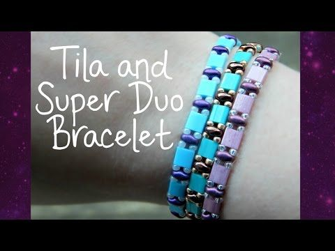 DIY Tila and Super Duo Bead Elastic Bracelet! ¦ The Corner of Craft - YouTube