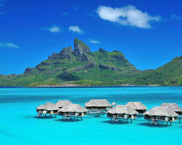 Bora Bora- I've always admired the pics of the Hilton signs in the airport for Bora Bora- looks like this! I'd like to jump right in!