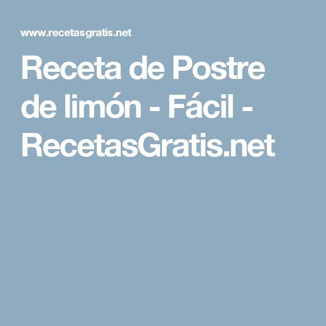 Receta de Postre de limón - Fácil - RecetasGratis.net