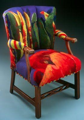 Felt upholstered chair by Festive Fiber
