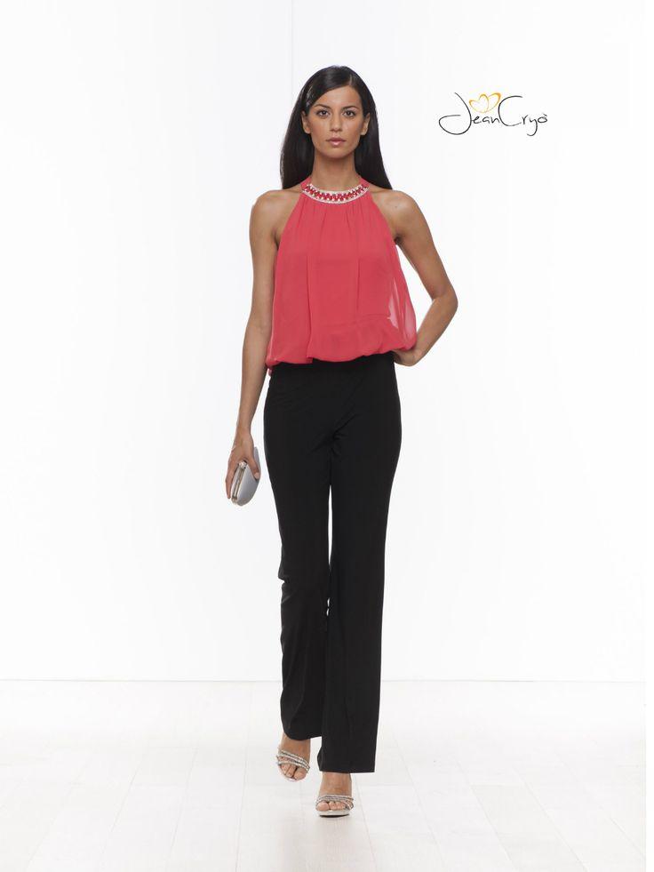 #Tuta #Jumpsuite doppio colore #pink #nero in chiffon.#fashion #fashionista #fashionmoment #moda #modadonna #outfit #style #dress #abbigliamento #cerimonia #abitieleganti #abiticerimonia #cocktaildress #party