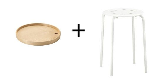 IKEA PS Tray + MARIUS makes a Multipurpose Side Table