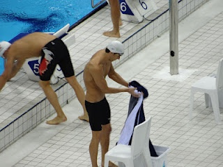 Michael Phelps at the session I was at London 2012 Olympics Aquatics Centre Stratford London