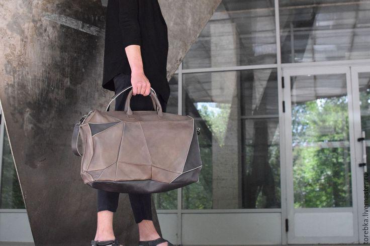 Купить Копия работы Дорожная сумка - кожа, дорожная сумка, спортивная сумка, даффл, Большая
