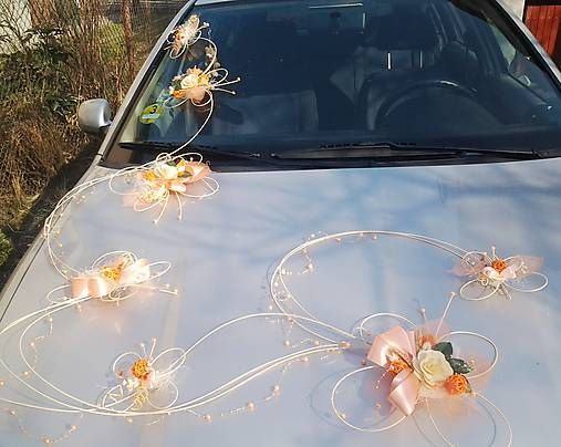 SvadbyVerixlenka / Svadobná výzdoba na auto- 7 motýlů romantic