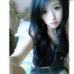 New Arrival Korea Style Inclined Bang Fluffy Long Curly Wig--Common Hair