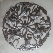 Metal Tree of Life with Birds Modern Metal Wall Art Ideas For Wall Hangings 24""