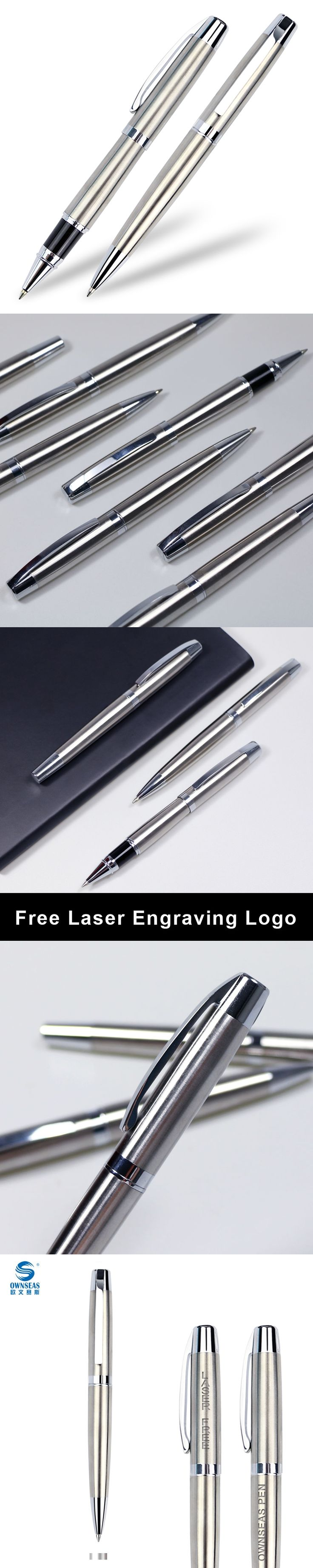 Novelty gifts metal ballpoint pens for writing with customized free engraving logo printing