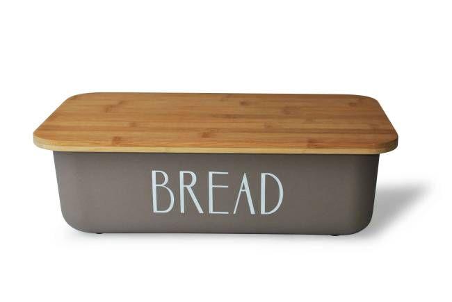 Plastové chlebníky s dřevěným víkem