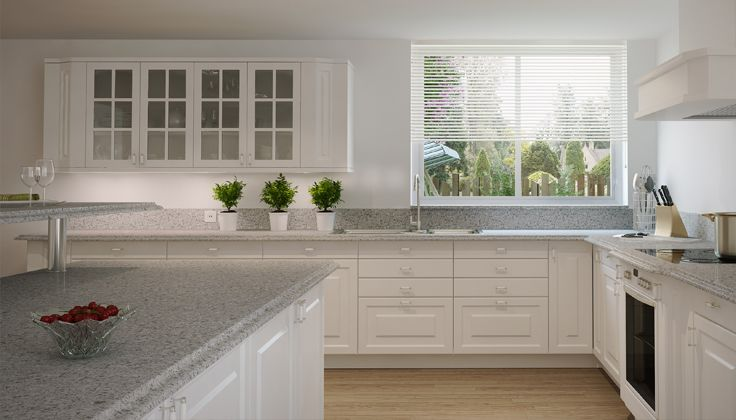 white Lidingo cabinets Atlantic Salts, Caesarston Kitchens, Kitchens