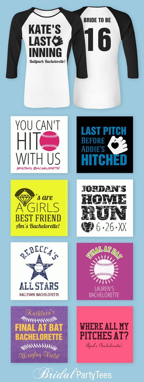 Custom Baseball Bachelorette Party Shirts