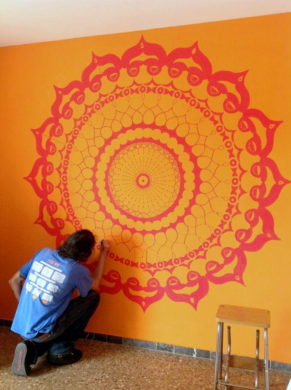 Mandala wall painting on behance decoracion pinterest for Decoracion hogar instagram