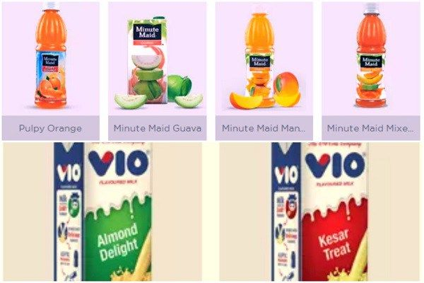 Coca-cola India products