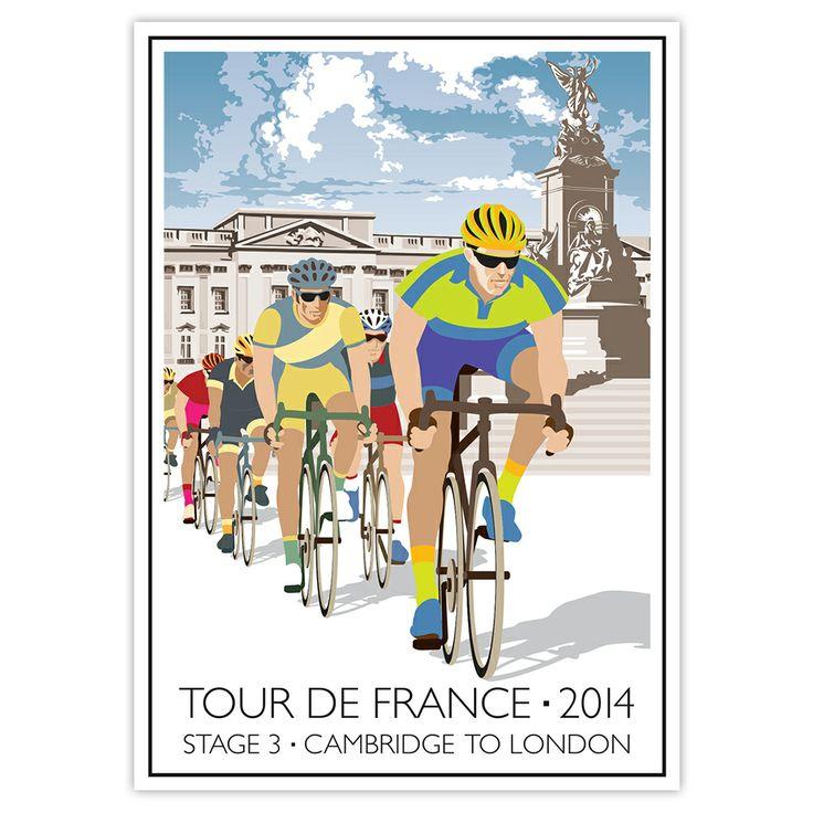 Tour de France 2014, Stage 3, Cambridge to London. www.smalltownpostcards.co.uk