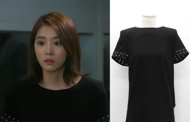 "Oh Yoon Ah in ""You're All Surrounded"" Episode 19. Gerard Darel Crepe Blouse  #Kdrama #YoureAllSurrounded #너희들은포위됐다 #OhYoonAh #오윤아"
