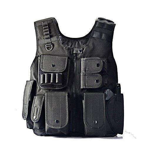 YAKEDA Law Enforcement Tactical SWAT Vest Army Fans Outdoor Vest Cs Game Vest,cs Field Vest Cosplay of Counter Strike Game-E88017