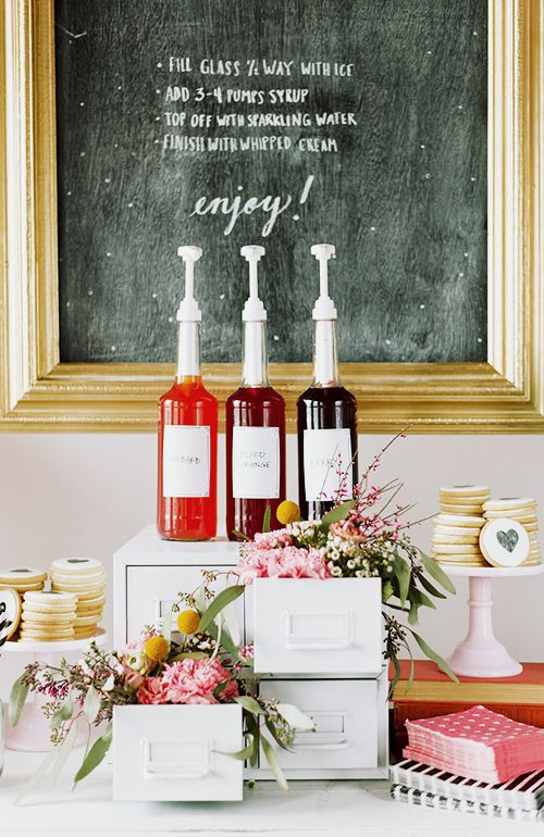 How to pull together a simple Italian Soda Bar.