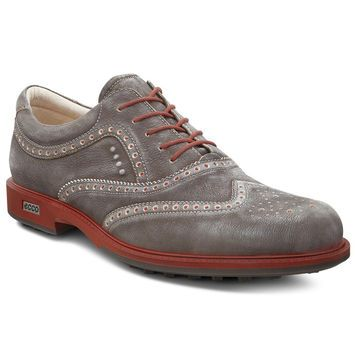 Brogues have made a return to the fairways and ECCO's new Tour Hybrid  Wingtip offers a modern take on a classic shoe. The luxurious distressed  Kara leather ...