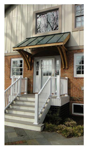 Custom Cedar Brackets And Metal Roof Front Porch Metal