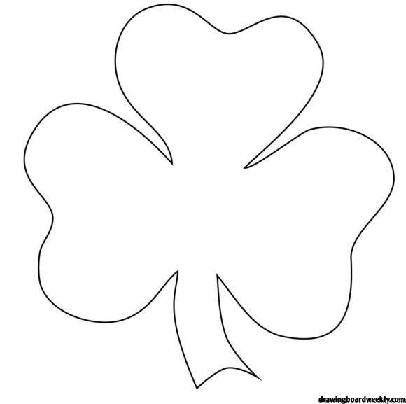 Shamrock Coloring Page In 2020 Shamrock Pictures St Patricks Day Crafts For Kids Shamrock Template