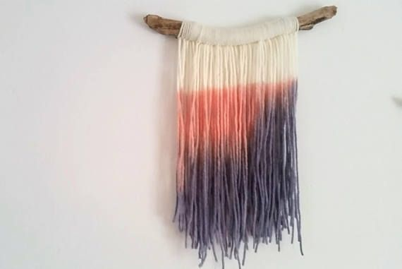 Hey, I found this really awesome Etsy listing at https://www.etsy.com/ca/listing/547002463/handmade-tapestry-fibre-art-dip-dye-wall