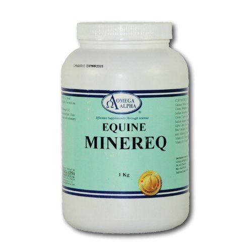 MINEREQ 1 KG MINERAL AND TIE UP FORMULA by Omega. $77.95. ?Minerals and trace elements necessary for the proper functioning of the muscles, enzyme systems. Strengthens the bones and ligaments and hooves. Source of vitamins and antioxidants essential for proper growth and functioning of the entire body.   Give 1-2 scoops with feed daily.   Calcium (Elemental).....................4000 mg Magnesium (Elemental)...............2000 mg Manganese (Elemental)................ 150 mg...