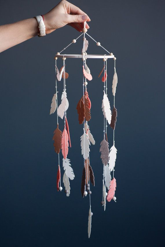 Feather Baby Mobile Dream Catcher Feather Nursery от SUNandCo