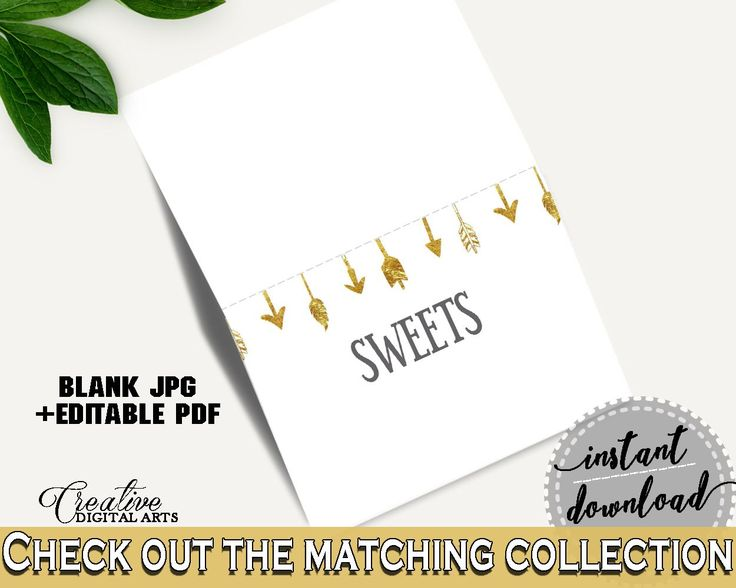 Food Tents Baby Shower Food Tents Gold Arrows Baby Shower Food Tents Baby Shower Gold Arrows Food Tents Gold White - I60OO - Digital Product #babyshowergames #babyshowerdecorations