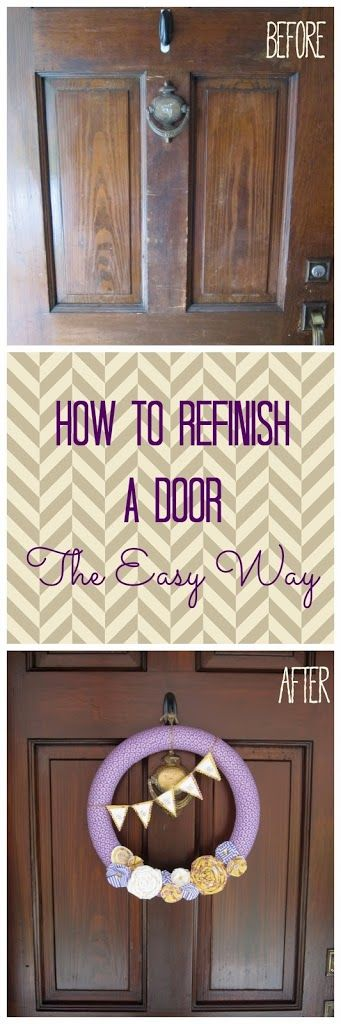 Hi, friends- You might think that a post about refinishing a door is boring.  But I promise that this is not a boring topic.  Instead, this post is super exciting and about a product that has changed my life (well, my front door's life, at least), and made my home's entrance look amazing!  And no, …
