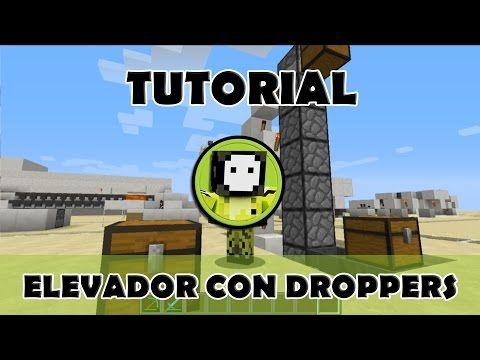 Tutorial Minecraft | Elevador de materiales sencillo para todas las vers...
