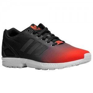 adidas hommes zx flux reflective gradient noir blanc sport rouge