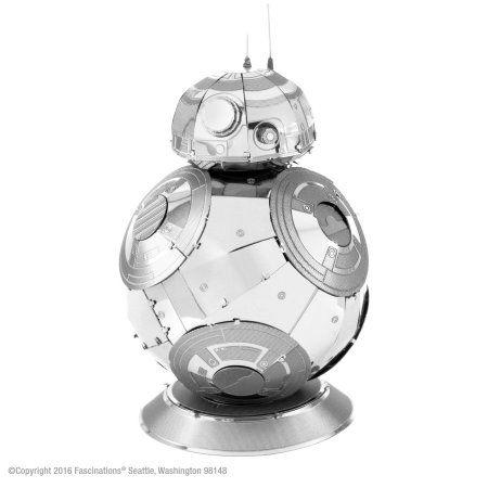 Fascinations Metal Earth 3D Metal Model Kit - Star Wars Episode 7 BB-8, Silver