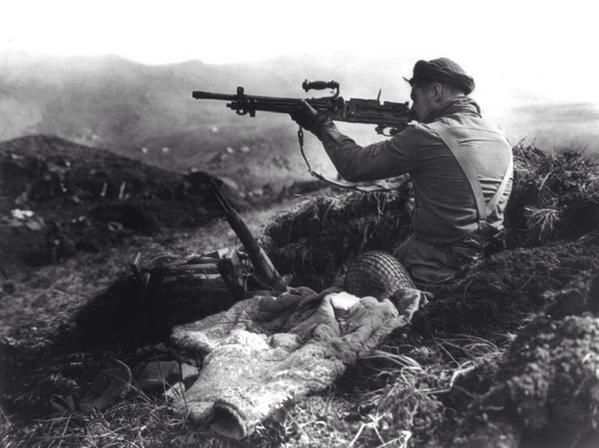 32 US & Canadian troops killed while occupying deserted Kiska- mistaking each other for Japanese in island's fog.