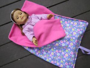 DIY American Girl sleeping bag-- need sewing machine, no zipper