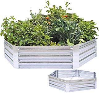 FOYUEE Metal Raised Garden Bed Galvanized Steel Planter Box Outdoor Vegetables H… – Container Gardening