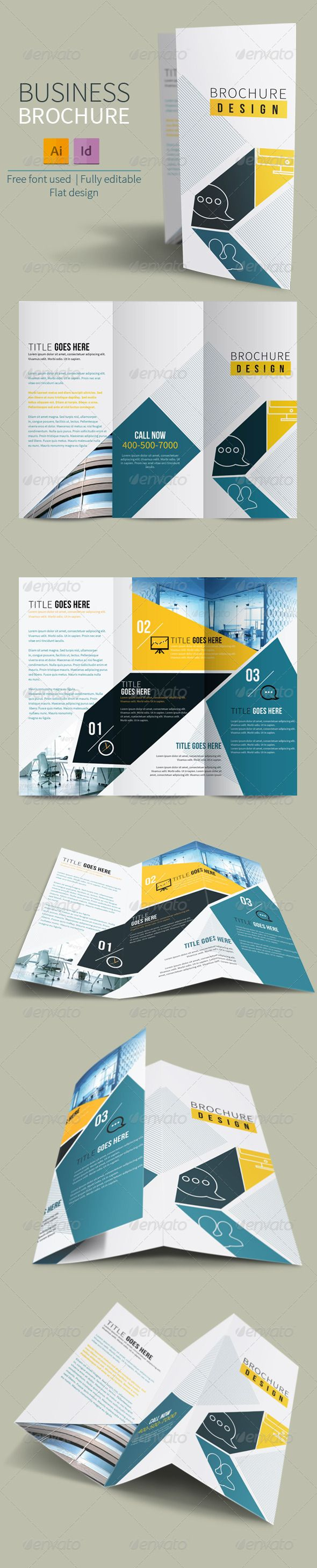 Trifold Brochure for EPS Business  Template • Only available here ➝ http://graphicriver.net/item/trifold-brochure-for-business/7186419?ref=pxcr