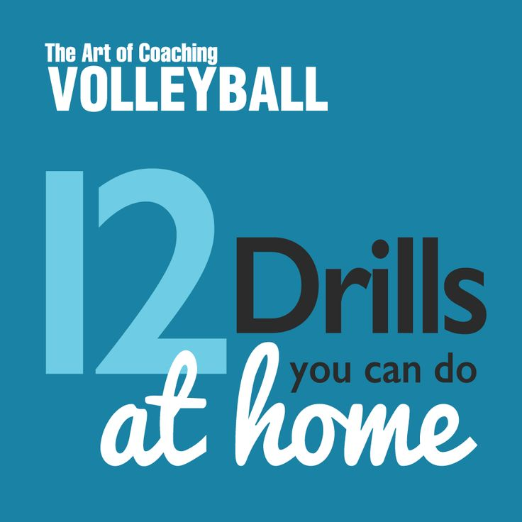 12 volleyball drills that players can do AT HOME to improve their skills!