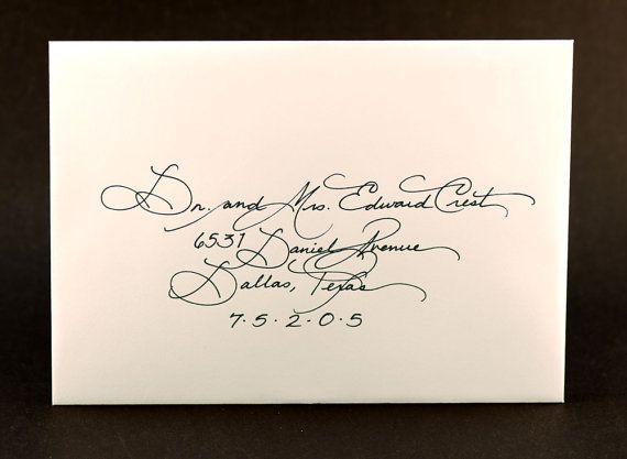 Calligraphy for Wedding Invitation Elegant by RomanticallyWritten, $1.00