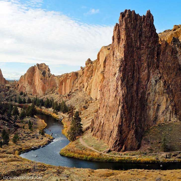 Smith Rock State Park (15 Best Day Trips from Portland Oregon) - this is an amazing spot to go hiking or sport climbing // localadventurer.com