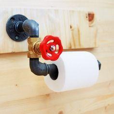 Porte rouleau papier toilette vanne -  raccord plomberie