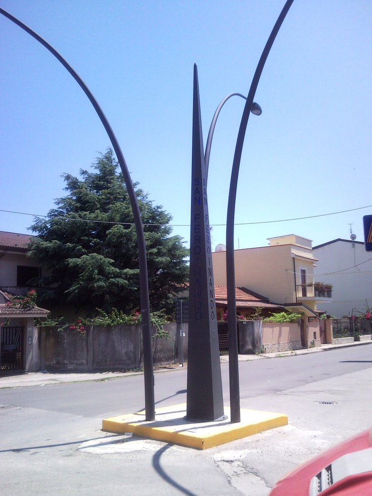 The SIgnpost of Gioia Tauro in the Italy.