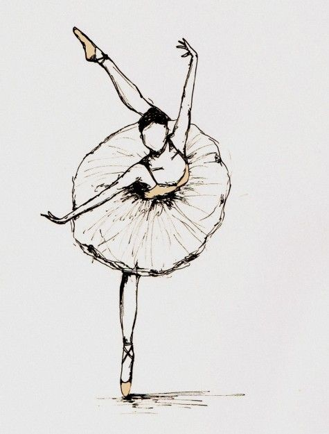 never can get enough of ballerina drawings @Austin Alley