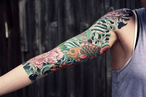 http://tattoo-ideas.us/wp-content/uploads/2013/12/Half-Sleeve.jpg Half Sleeve #Armtattoos, #Colourfultattoos, #Sleevetattoos
